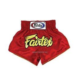 """Fairtex BS202 """"Women Cut"""" Shorts - Red"""