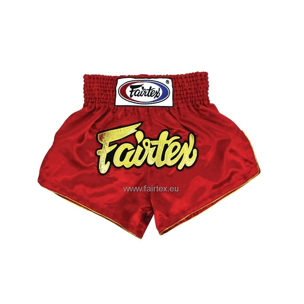"Fairtex BS202 ""Women Cut"" Satijnen Muay Thai Broekje - Rood"