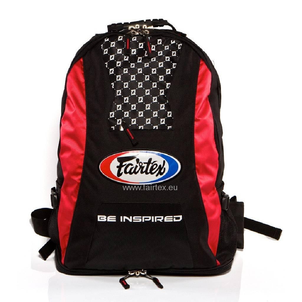Fairtex BAG4 Fairtex Back Pack - Red/Black