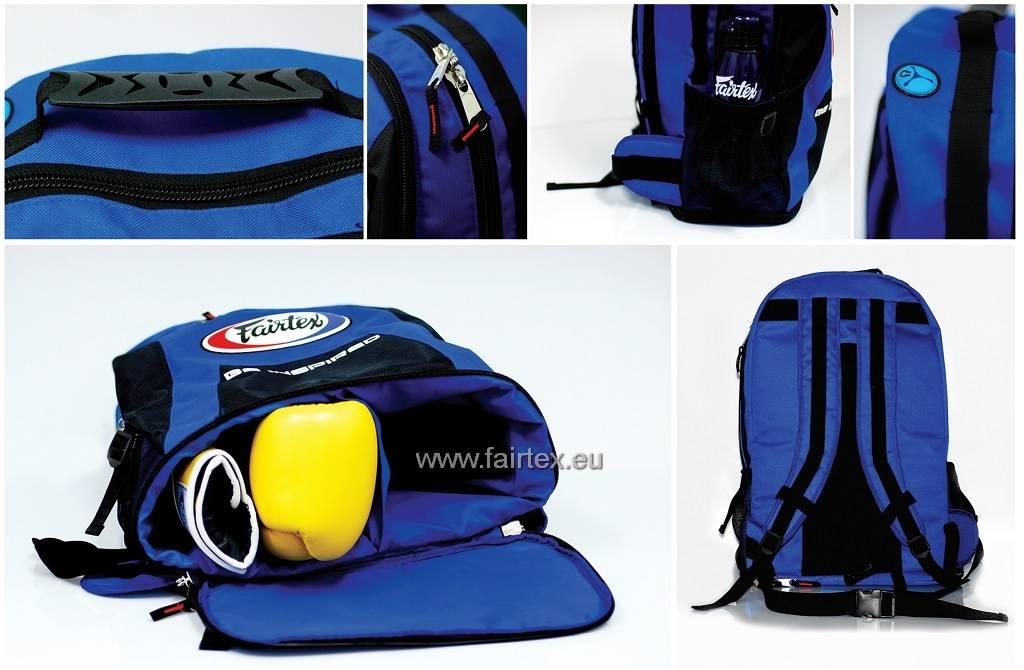 Fairtex BAG4 Fairtex Back Pack - Blue/Black