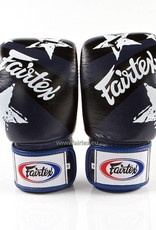 "Fairtex BGV1 ""Nation Print"" Limited Edition Bokshandschoenen - Blauw"