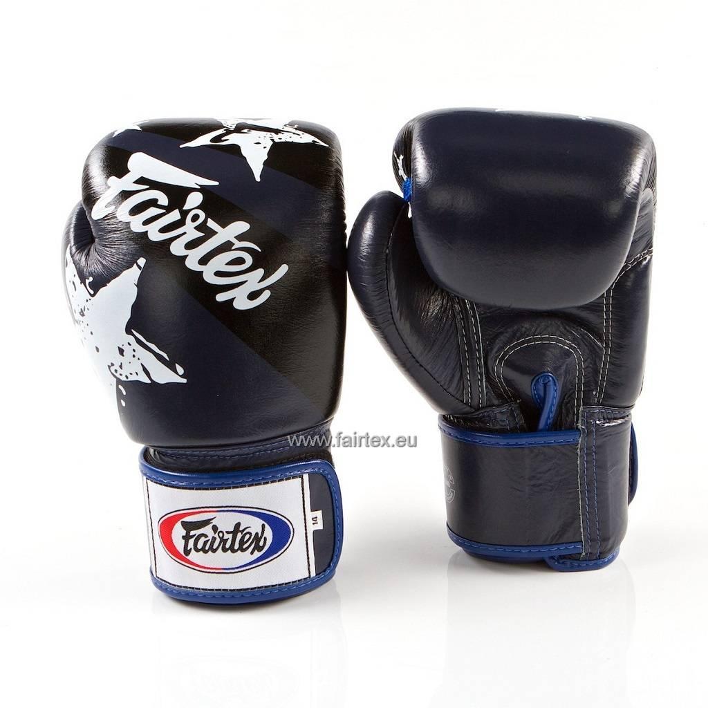 "Fairtex BGV1 ""Nation Print"" Limited Edition Handschuhe - Blau"