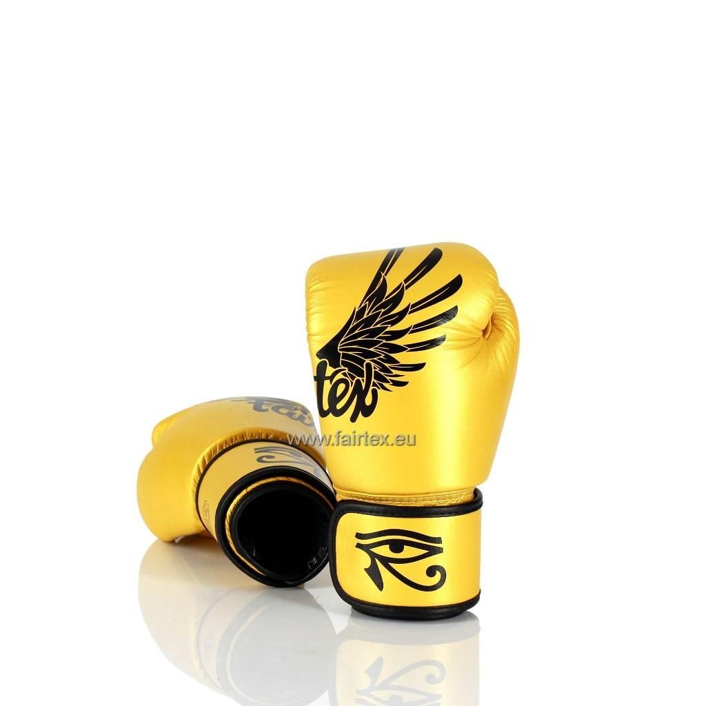 "Fairtex BGV1 ""Falcon"" Limited Edition Bokshandschoenen - Goud"