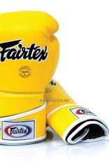 Fairtex BGV6 Stylish Angular Sparring Gloves with Locked Thumb - Yellow