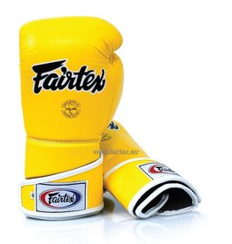 Fairtex BGV6 Stylish Angular Sparring Bokshandschoenen - Geel