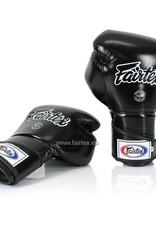 Fairtex BGV6 Stylish Angular Sparring Bokshandschoenen met Gesloten Duim - Zwart