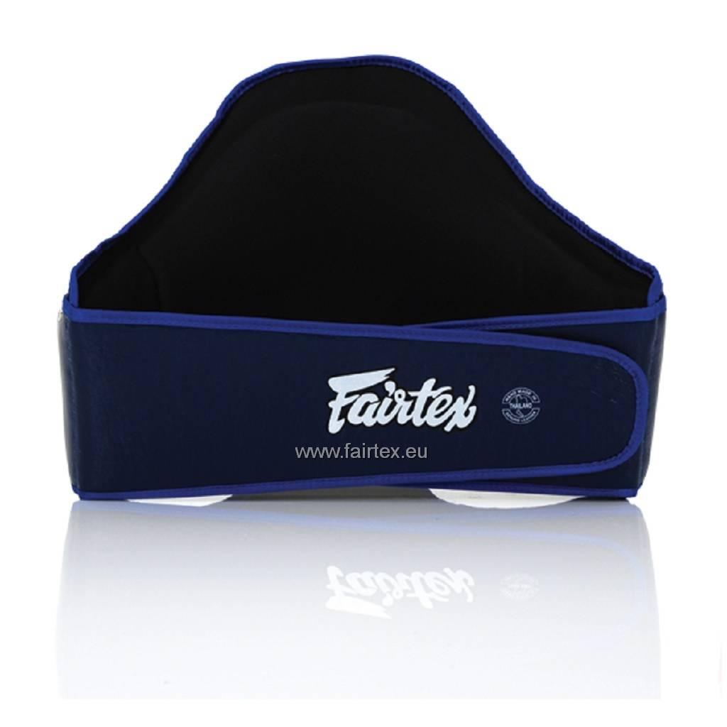 Fairtex BPV2 Leather Belly Pad with Hook & Loop Waist Wrap - Blue