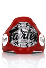 Fairtex BPV2 Leather Belly Pad with Hook & Loop Waist Wrap - Red