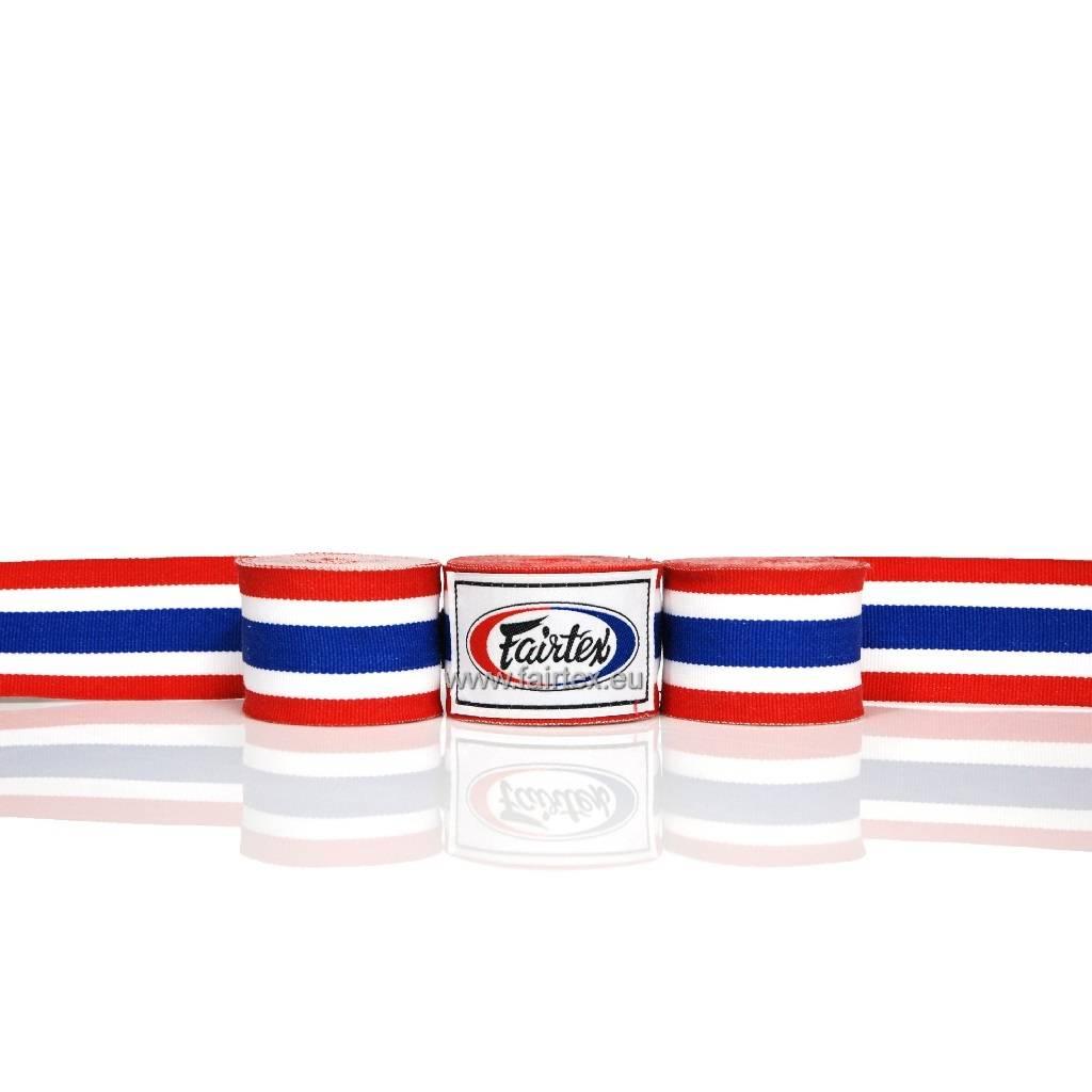 Fairtex HW2 Extra Long Elastic Hand Wraps - Thai Flag Pattern