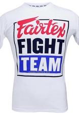 """Fairtex TST51 """"Fairtex Fight Team"""" T-shirt - White - Small"""