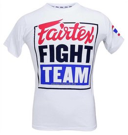 "Fairtex T-shirt TST51 ""Fairtex Fight Team"" - Blanc"
