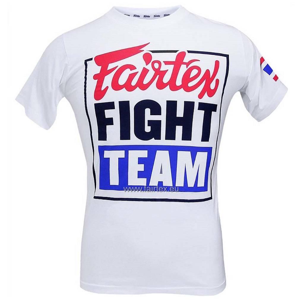 """Fairtex TST51 """"Fairtex Fight Team"""" T-shirt - Wit"""
