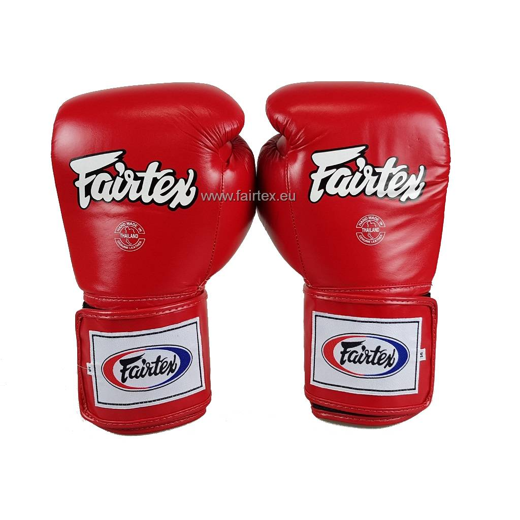 Fairtex BGV5 Super Sparring Gloves with Locked Thumb - Red