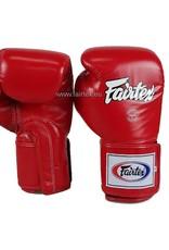 Fairtex BGV5 Super Sparring Bokshandschoenen met Gesloten Duim - Rood