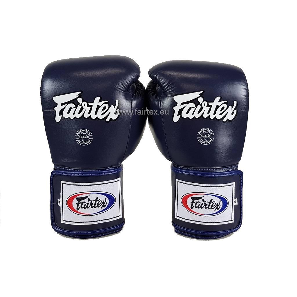 Fairtex BGV5 Super Sparring Bokshandschoenen met Gesloten Duim - Blauw