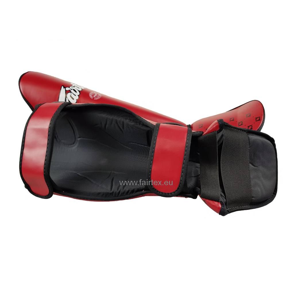 Fairtex SP5 Safety and Super Comfort Scheenbeschermers - Rood