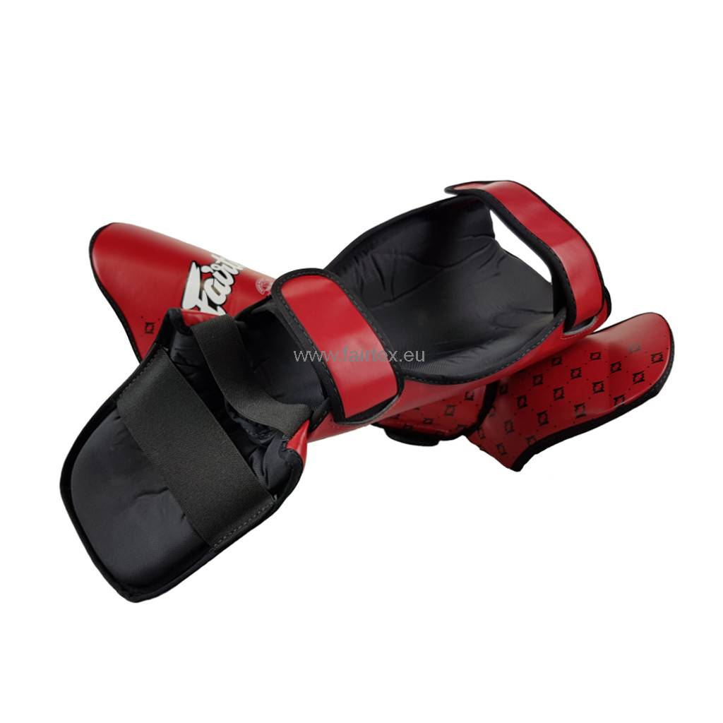 Fairtex SP5 Safety and Super Comfort Shin Pads - Red