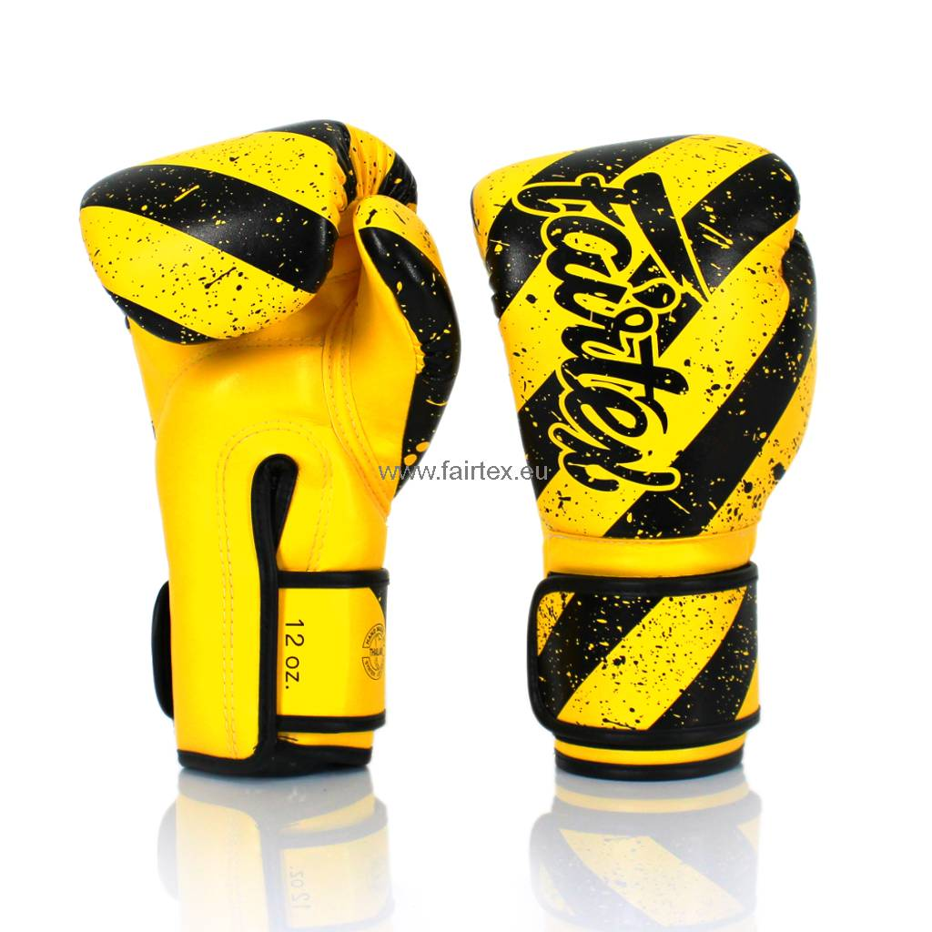 "Fairtex BGV14Y ""Grunge Art"" Limited Edition Handschuhe - Gelb"