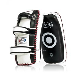 Fairtex KPLC2 Curved Kick Pads - Wit/Zwart