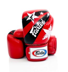 "Fairtex BGV1 ""Nation Print"" Bokshandschoenen - Rood"