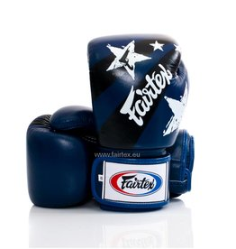 "Fairtex BGV1 ""Nation Print"" Bokshandschoenen - Blauw"