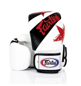 "Fairtex BGV1 ""Nation Print"" Bokshandschoenen - Wit"