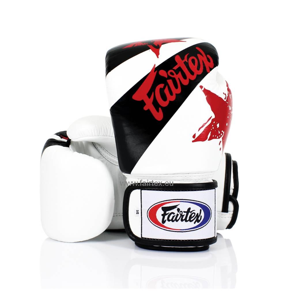 "Fairtex BGV1 ""Nation Print"" Limited Edition Gloves - White"