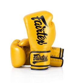 Fairtex BGV18 Super Sparring Gloves - Gold -  14oz