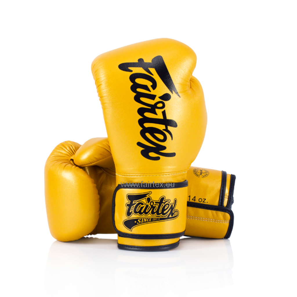 "Fairtex BGV18 ""Pillow Style"" Super Sparring Gloves - Goud"