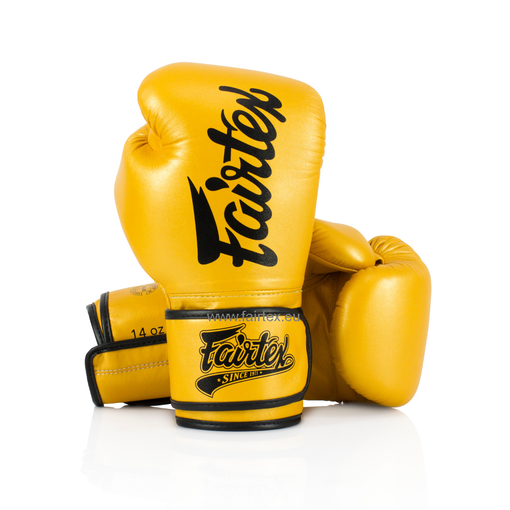 "Fairtex BGV18 ""Pillow Style"" Super Sparring Gloves - Gold"
