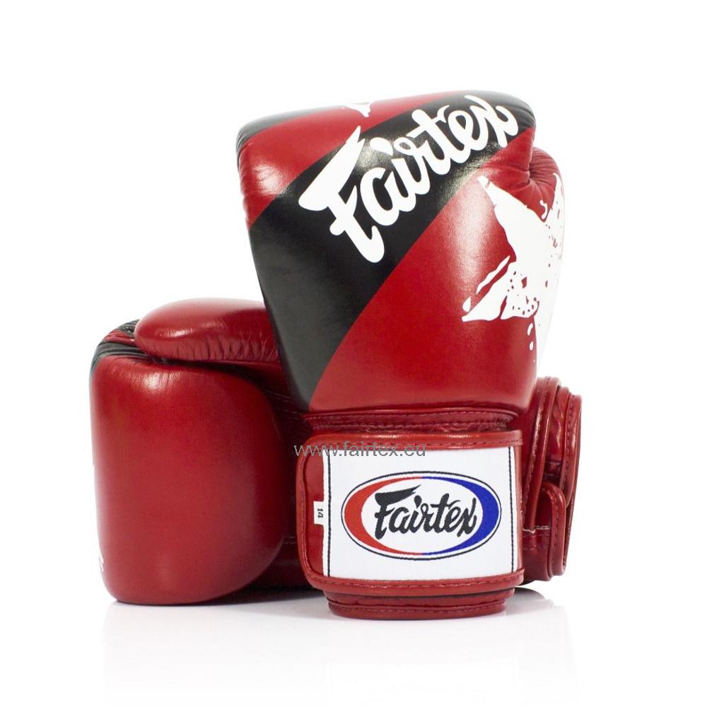 "Fairtex BGV1 ""Nation Print"" Limited Edition Gloves - Red"