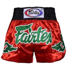 """Fairtex Short BS0633 """"Green Shiny Thai Art"""" - Rouge"""