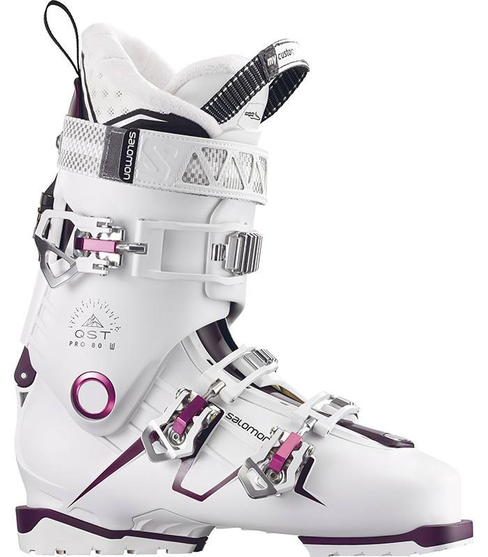 hot products new lower prices quality design Salomon QST PRO 80W: White / Burgandy / Pink Ski Boots