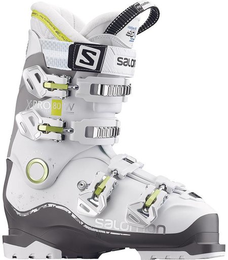 Salomon X PRO 80W: White / Anthracite / Light Grey Ski Boots