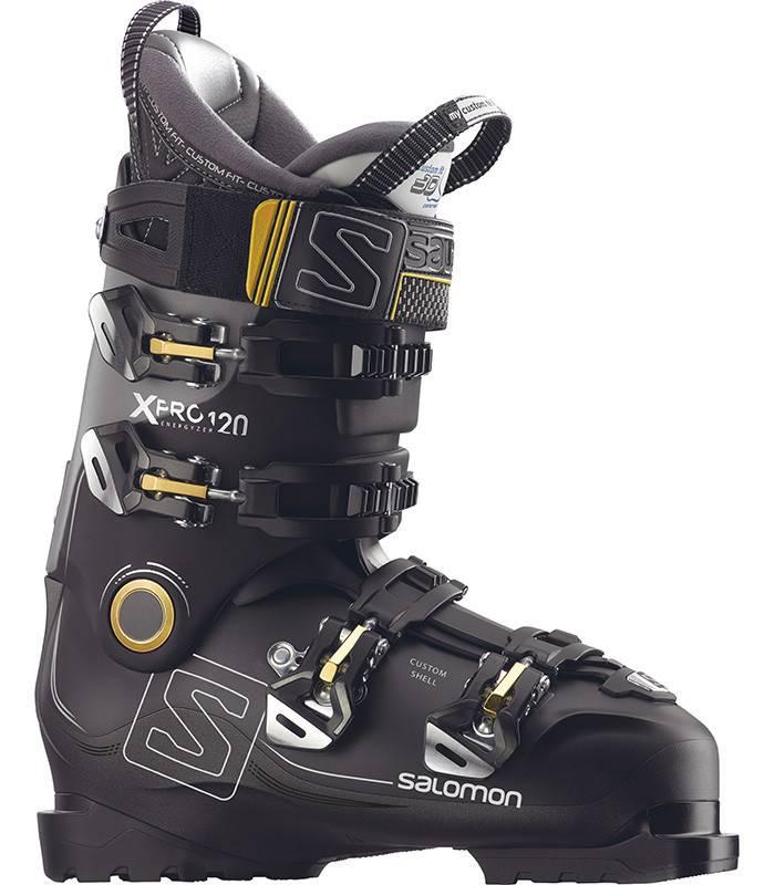 Salomon X PRO 120: Black / Metallic Black / Light Grey Ski Boots
