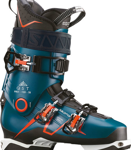 Salomon QST PRO 120: Petrol Blue / Black / Orange Ski Boots