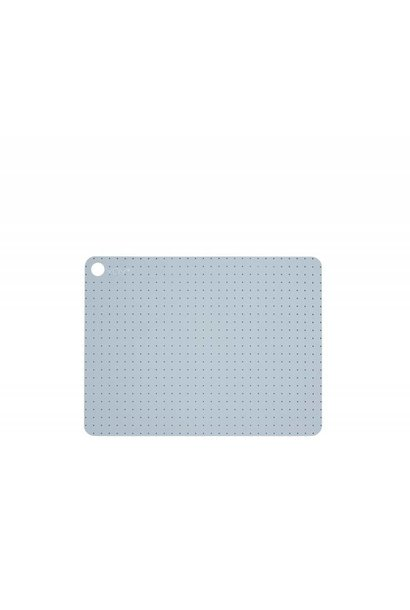 Placemats - grid dot - pale grey - 2 pcs