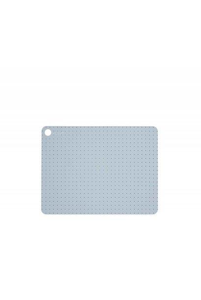 Placemats - pale grey blue dots - 2 pcs