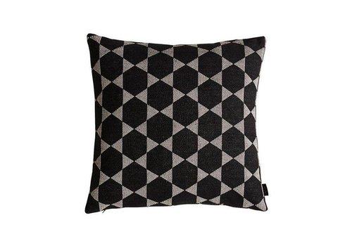 OYOY Fluffy Cushion - Black / Light Grey - 50 x 50 **
