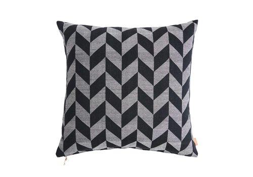 OYOY Floor Cushion Black/Light Grey