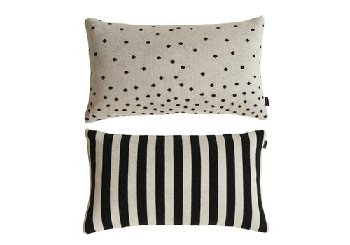 OYOY Luna Cushion - Black/White - 40x70