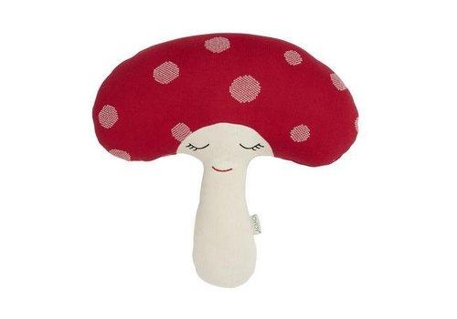 OYOY Cotton knit Cushion - Mushroom