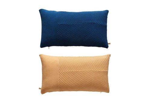 OYOY Cushion - Ada - dazzling blue / peach - 40x70