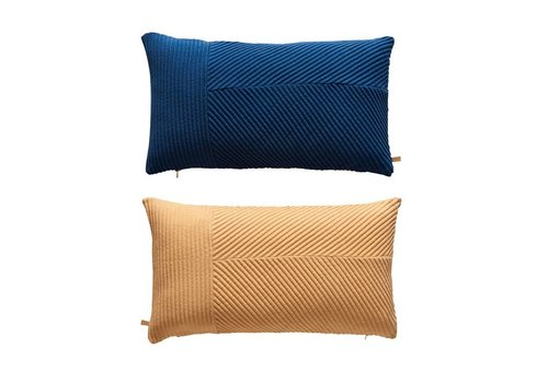 OYOY Cushion - Ada - dazzling blue / peach