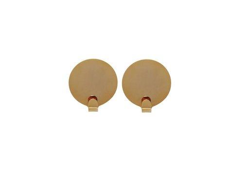 OYOY Hook Ping - Brass - 2 pcs - dia 5cm