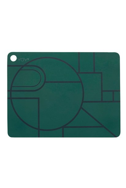 Placemats - ponyo - dark green - 2 pcs