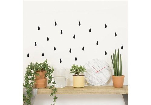 Chispum - rain wall sticker small - black