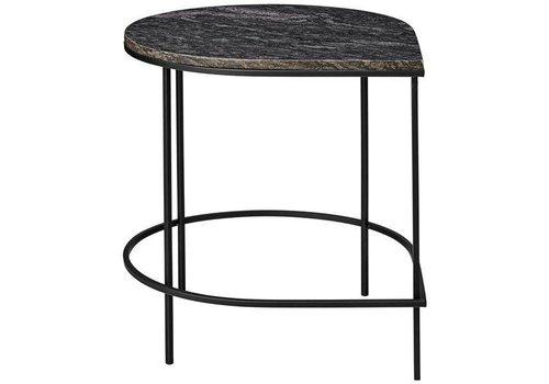 AYTM Stilla - Table with Marble Top - black/black