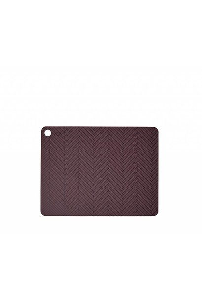 Placemats - herringbone - bordeaux - 2 pcs