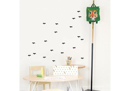 Chispum - birds wall sticker small - black